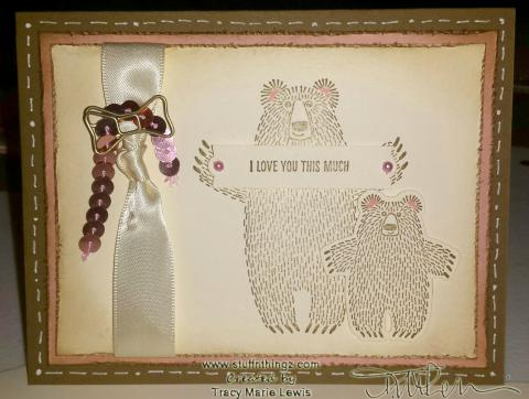 Stamp A Stack Card #1 - Bears: My version | Tracy Marie Lewis | www.stuffnthingz.com