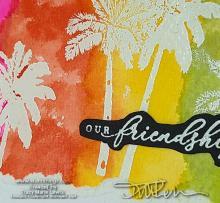 Slimeline Sunday Tropical Friendship Card | Tracy Marie Lewis | www.stuffnthingz.com