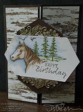 Birch Horse Birthday Card | Tracy Marie Lewis | www.stuffnthingz.com