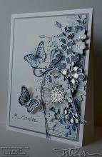 Blue Butterfly Smile Card | Tracy Marie Lewis | www.stuffnthingz.com