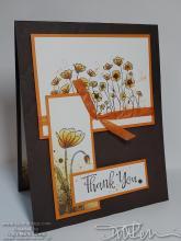 Poppies Splatter Series #3 - Brown & Orange | Tracy Marie Lewis | www.stuffnthingz.com