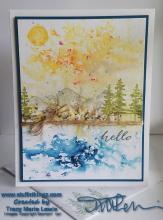 Tutorial - Easy To Replicate - Brusho Nature Scene | Tracy Marie Lewis | www.stuffnthingz.com