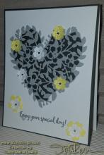 Grey and Yellow Wedding Card | Tracy Marie Lewis | www.stuffnthingz.com