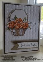 You Are Loved Basket Card | Tracy Marie Lewis | www.stuffnthingz.com