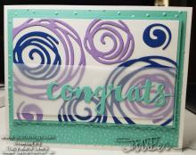 Swirly Congrats Card | Tracy Marie Lewis | www.stuffnthingz.com