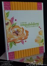 Bright Floral Congrats Card 2 | Tracy Marie Lewis | www.stuffnthingz.com