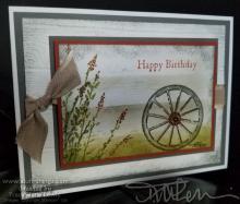 Country Wheel Happy Birthday Card | Tracy Marie Lewis | www.stuffnthingz.com