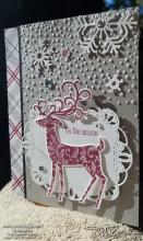 Dashing Deer With Snow | Tracy Marie Lewis | www.stuffnthingz.com