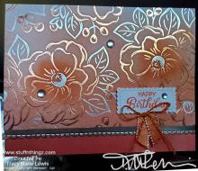 Grapefruit Grove Floral Birthday Card   Tracy Marie Lewis   www.stuffnthingz.com