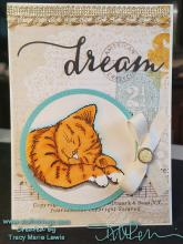 Dream Sleeping Kitten Card | Tracy Marie Lewis | www.stuffnthingz.com