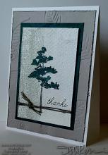 Simple Masculine Tree Thanks Card | Tracy Marie Lewis | www.stuffnthingz.com