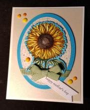 Sunflower Mother's Day Card | Tracy Marie Lewis | www.stuffnthingz.com