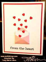 From The Heart in White Card | Tracy Marie Lewis | www.stuffnthingz.com