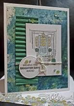 House Spring Card - Green & Blue 1 | Tracy Marie Lewis | www.stuffnthingz.com