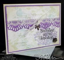 Purple Hydrangea Birthday Card | Tracy Marie Lewis | www.stuffnthingz.com
