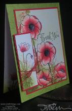 Red Splatter Poppies Thank You Card | Tracy Marie Lewis | www.stuffnthingz.com