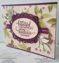 Floral Vellum Kindness Card | Tracy Marie Lewis | www.stuffnthingz.com