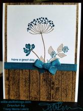 Wood and Flower Great Day Card | Tracy Marie Lewis | www.stuffnthingz.com
