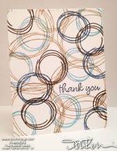 Swirly Masculine Thank You Card | Tracy Marie Lewis | www.stuffnthingz.com