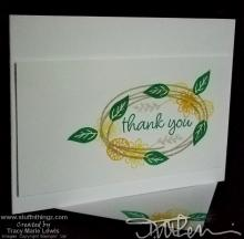 Swirled - Thank You Card | Tracy Marie Lewis | www.stuffnthingz.com