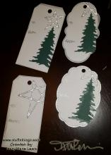Last Minute Christmas Tags - Tracy Marie Lewis - www.stuffnthingz.com