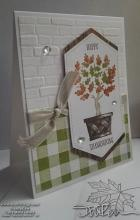 Happy Thanksgiving Fall Oak Leaves Card | Tracy Marie Lewis | www.stuffnthingz.com
