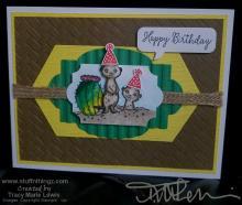 Masculine Meerkat Birthday Card | Tracy Marie Lewis | www.stuffnthingz.com