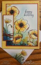 Painted Poppies Splatter Series - #1 - Yellow & Blue | Tracy Marie Lewis | www.stuffnthingz.com