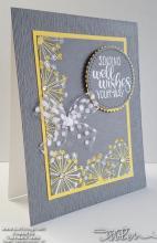 Gray And Yellow Dandelion Wishing Well Card | Tracy Marie Lewis | www.stuffnthingz.com
