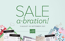 Stampin' Up! Sale-A-Bration August 3 - September 30 2021