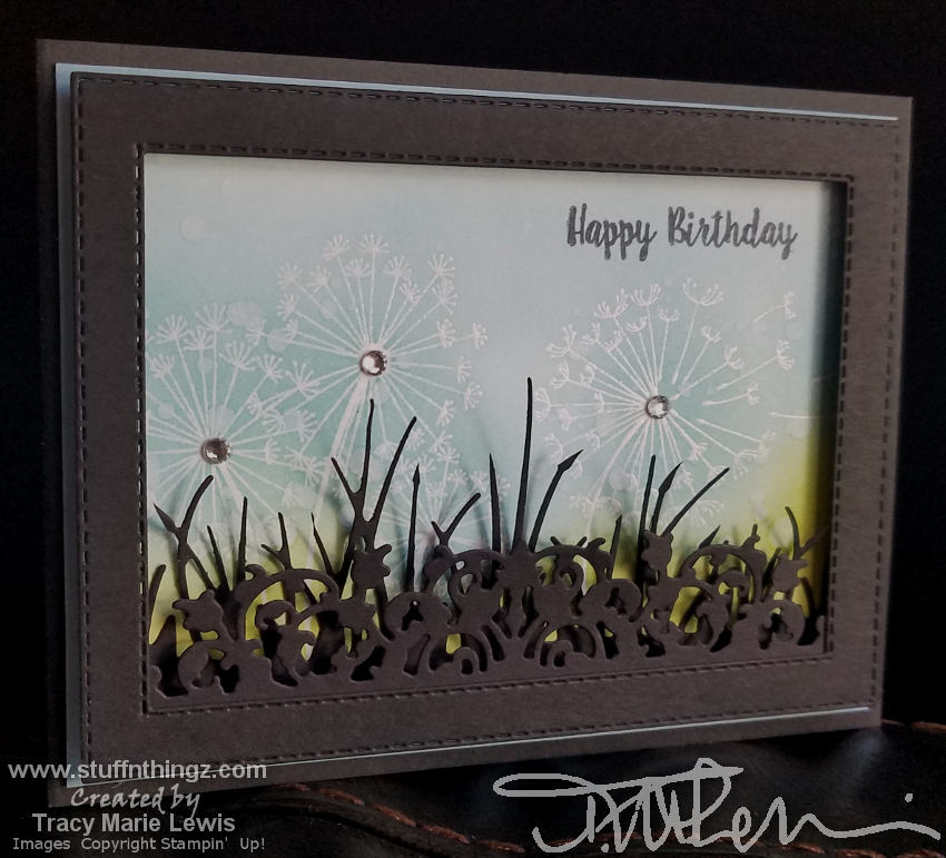 Black Grassy Birthday Card | Tracy Marie Lewis | www.stuffnthingz.com