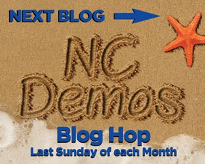 NC Demos Blog Hop Next Button | Tracy Marie Lewis | www.stuffnthingz.com