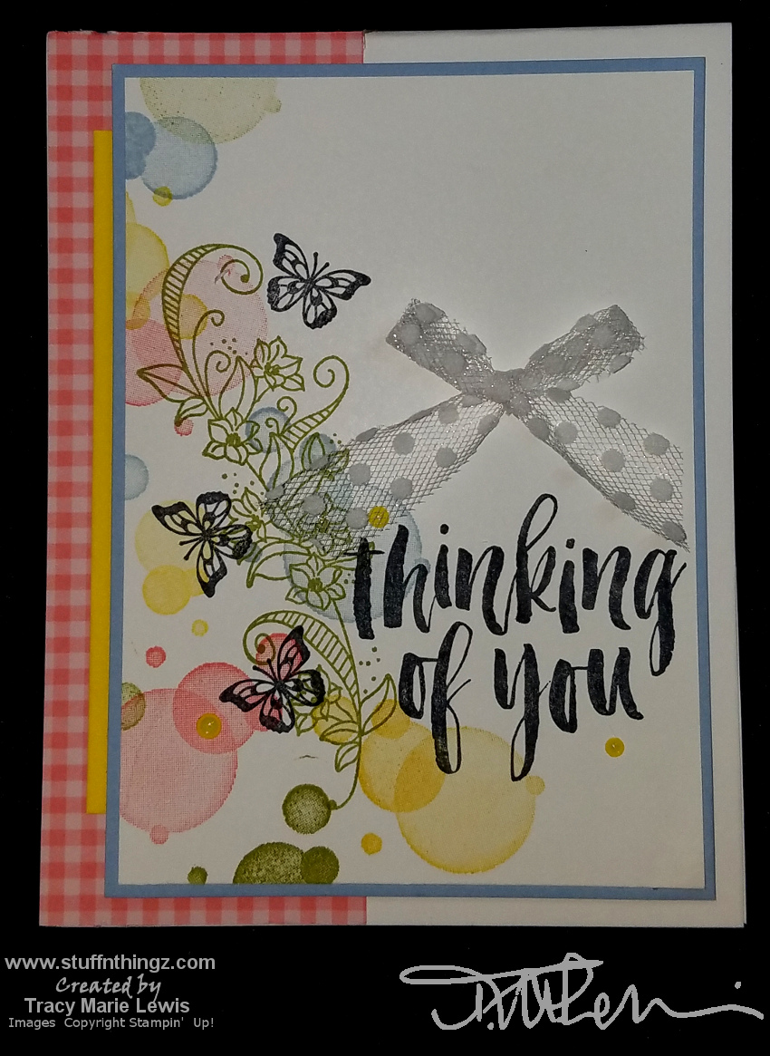 Butterfly Gala Stepped Up Thinking Of You Card | Tracy Marie Lewis | www.stuffnthingz.com