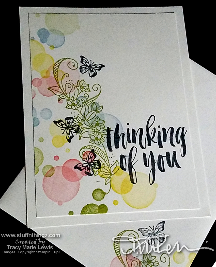 Butterfly Gala #simplestamping Thinking Of You Card   Tracy Marie Lewis